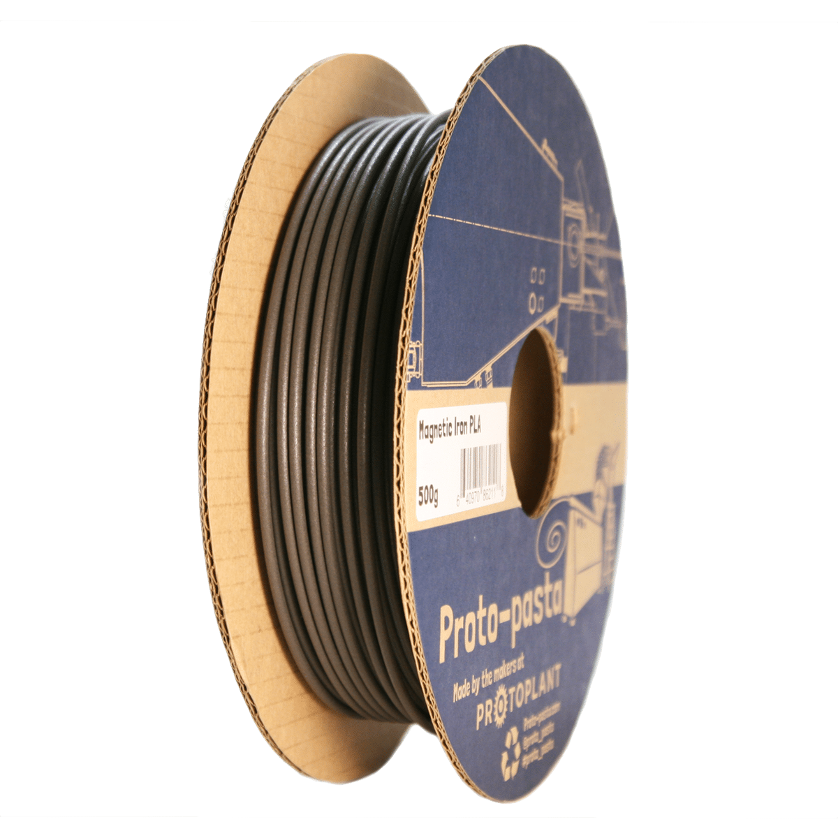 Image of Proto-pasta Magnetic Iron PLA 1.75mm 500g