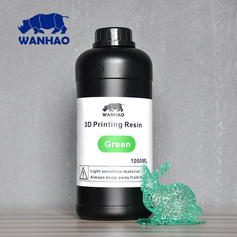 Image of Wanhao 3D-Printer UV Resin - 1000 ml - Green