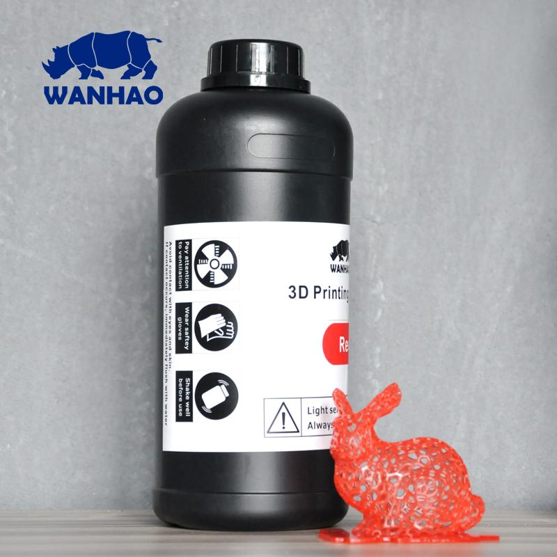 Image of Wanhao 3D-Printer UV Resin - 1000 ml - Red