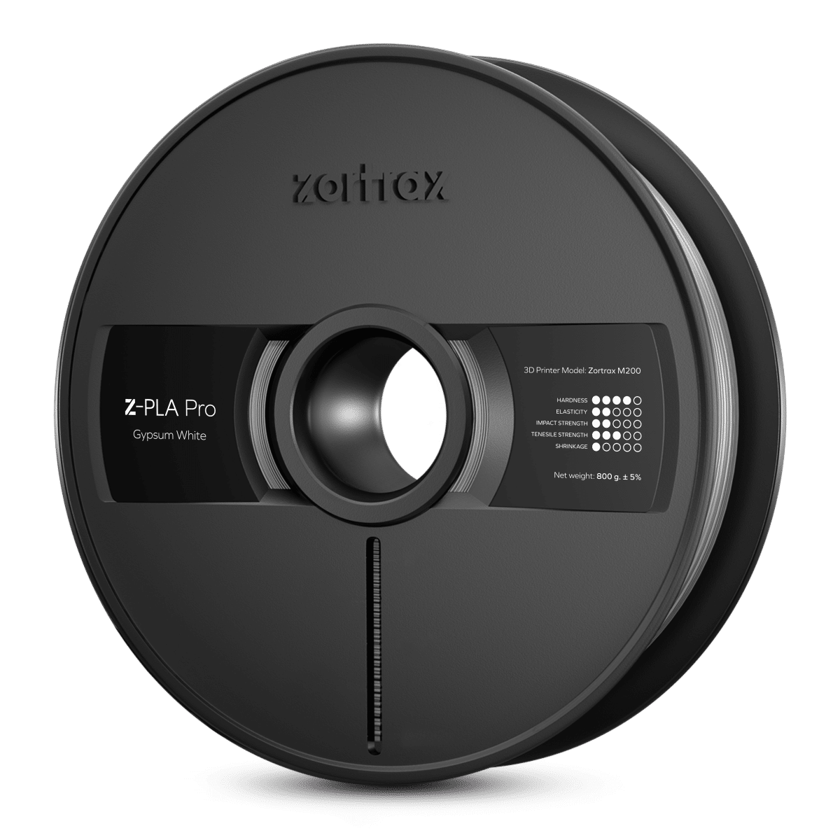 Billede af Zortrax Z-PLA Pro - 1,75mm - 800g - Gypsum White
