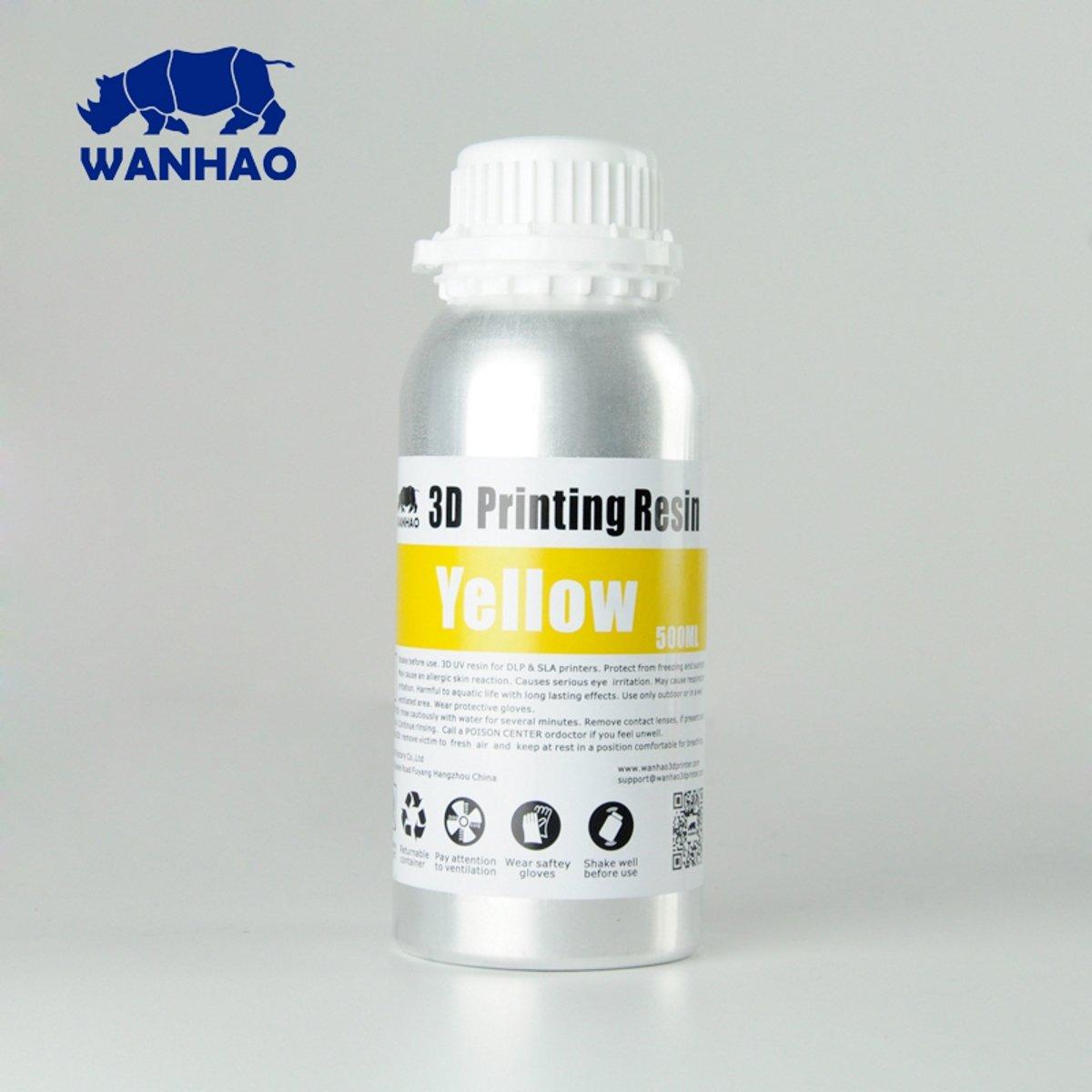 Image of Wanhao 3D-Printer UV Resin - 500 ml - Yellow