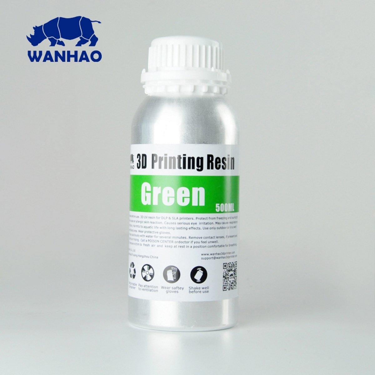Image of Wanhao 3D-Printer UV Resin - 500 ml - Green