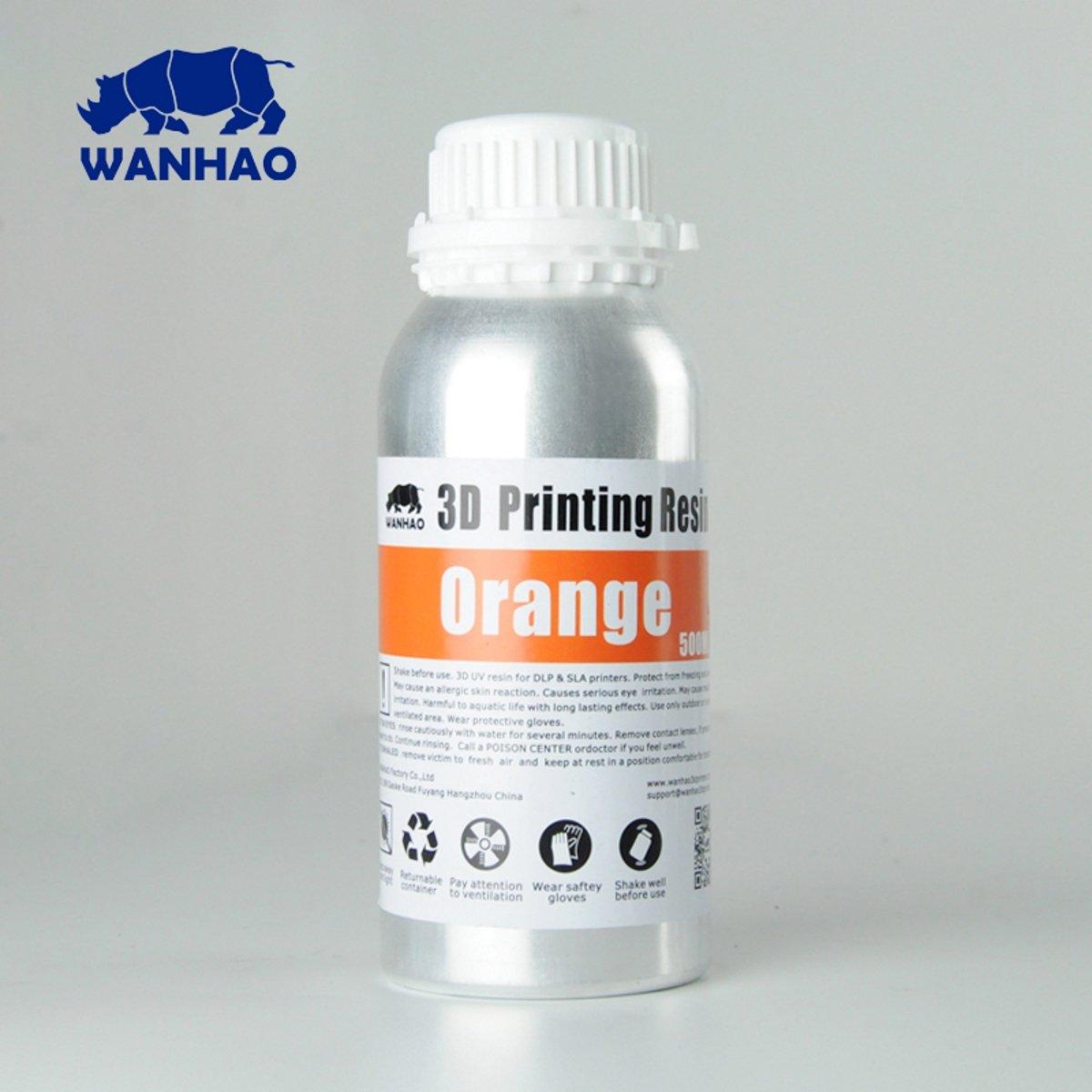 Image of Wanhao 3D-Printer UV Resin - 500 ml - Orange