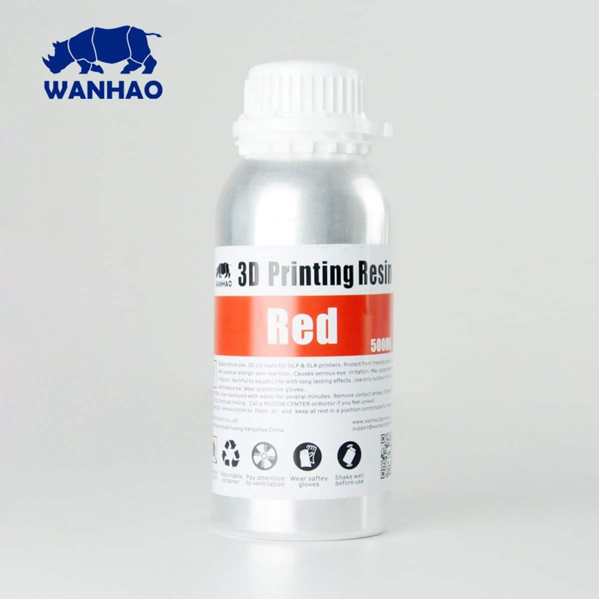 Image of Wanhao 3D-Printer UV Resin - 500 ml - Red