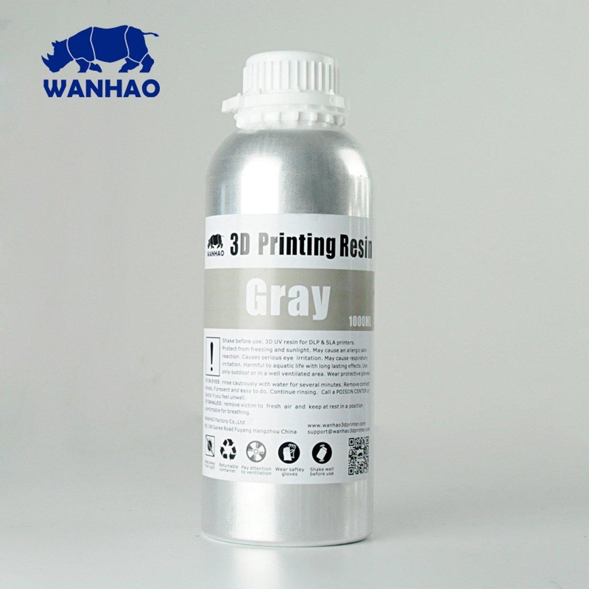 Billede af Wanhao 3D-Printer UV Resin Water Washable - 1000 ml - Grey