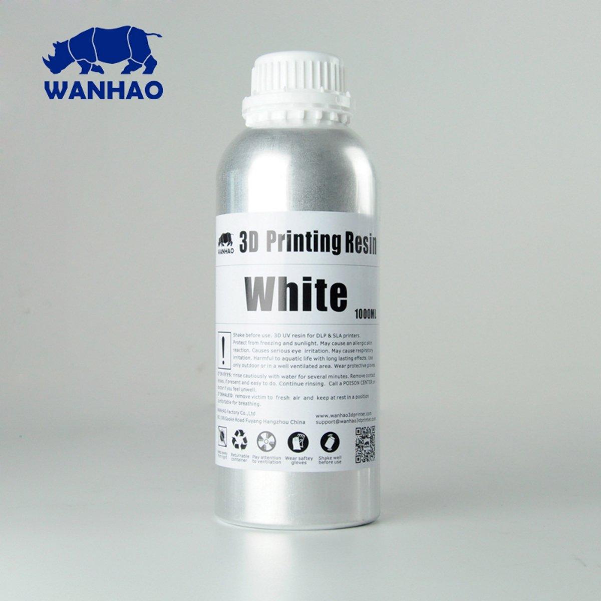 Billede af Wanhao 3D-Printer UV Resin Water Washable - 1000 ml - White