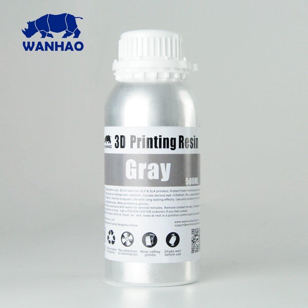 Billede af Wanhao 3D-Printer UV Resin Water Washable - 500 ml - Grey