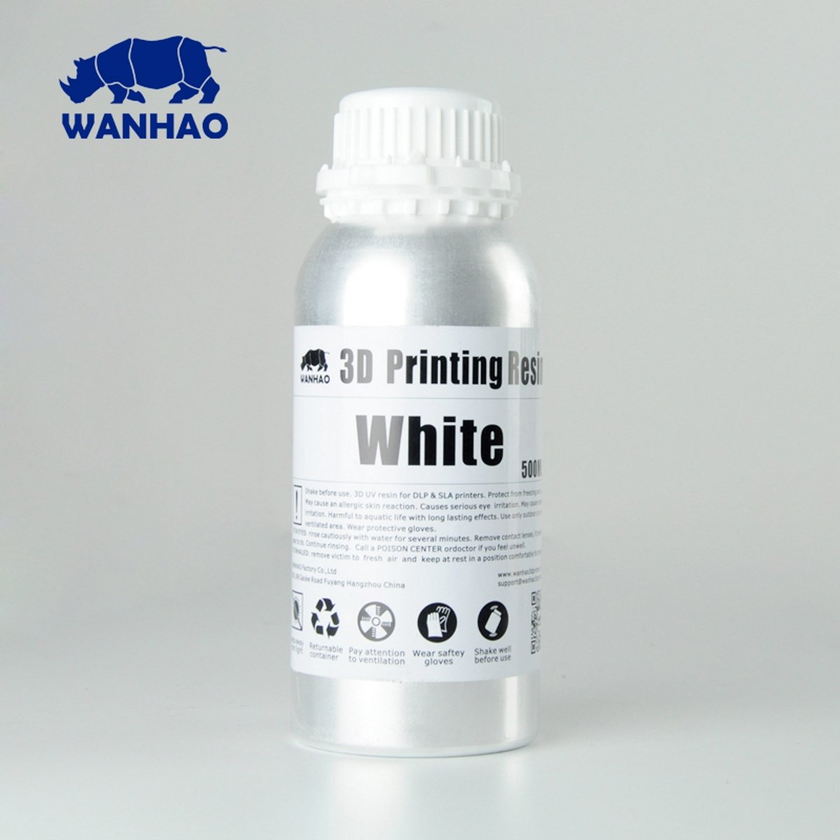 Image of   Wanhao 3D-Printer UV Resin Water Washable - 500 ml - White