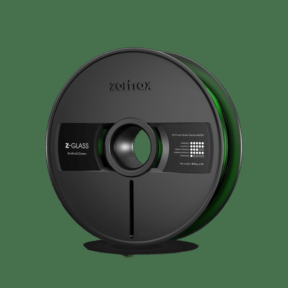 Billede af Zortrax Z-GLASS - 1.75mm - 800g - Android Green