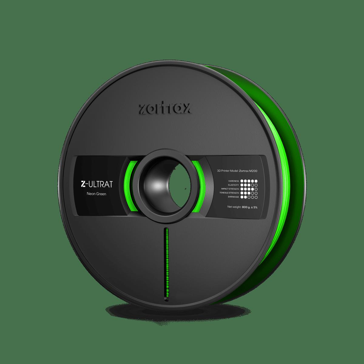 Billede af Zortrax Z-ULTRAT - 1.75mm - 800g - Neon Green