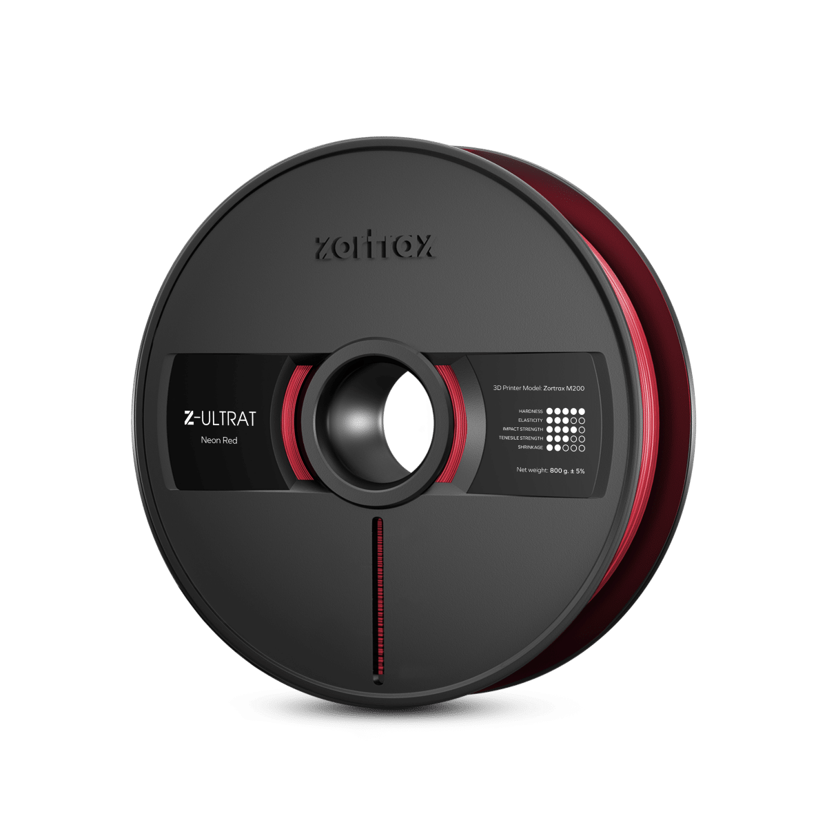 Billede af Zortrax Z-ULTRAT - 1.75mm - 800g - Neon Red