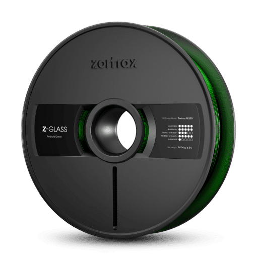 Zortrax Z-GLASS – M300 – 1.75 mm – 2 kg – Android Green