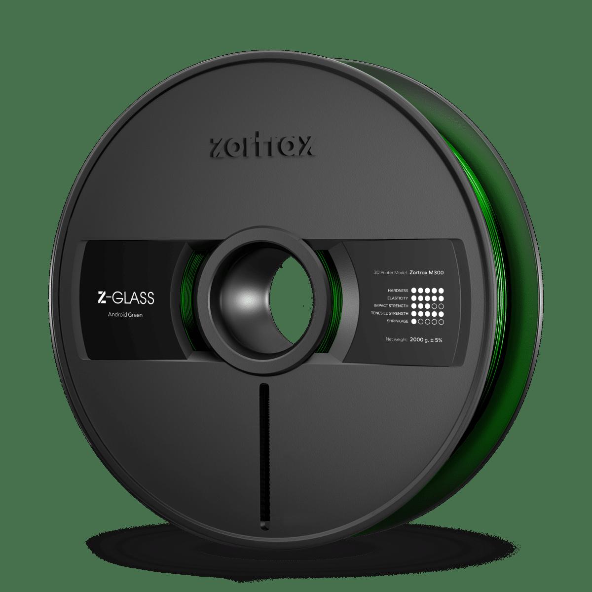 Billede af Zortrax Z-GLASS - M300 - 1.75 mm - 2 kg - Android Green