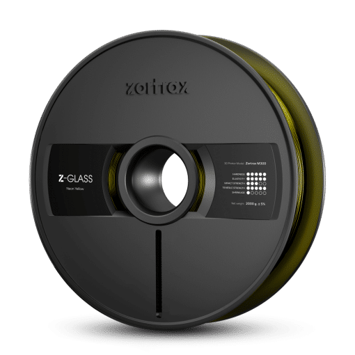 Zortrax Z-GLASS – M300 – 1.75 mm – 2 kg – Neon Yellow