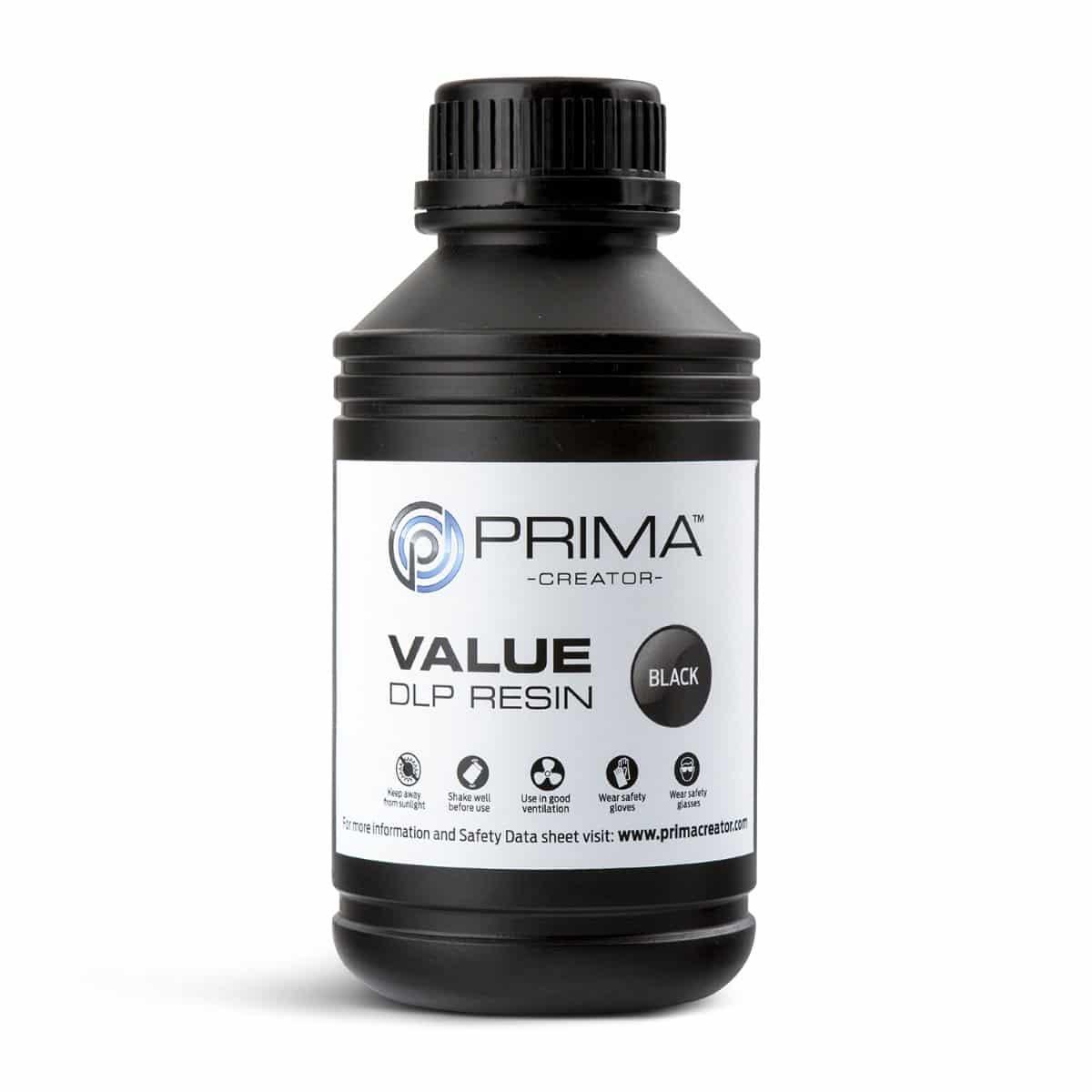 Image of PrimaCreator Value UV / DLP Resin - 500 ml - Black