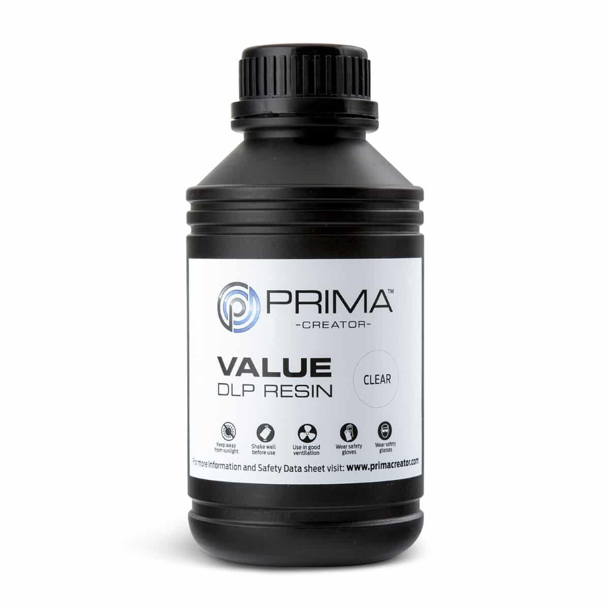 Image of PrimaCreator Value UV / DLP Resin - 500 ml - Clear