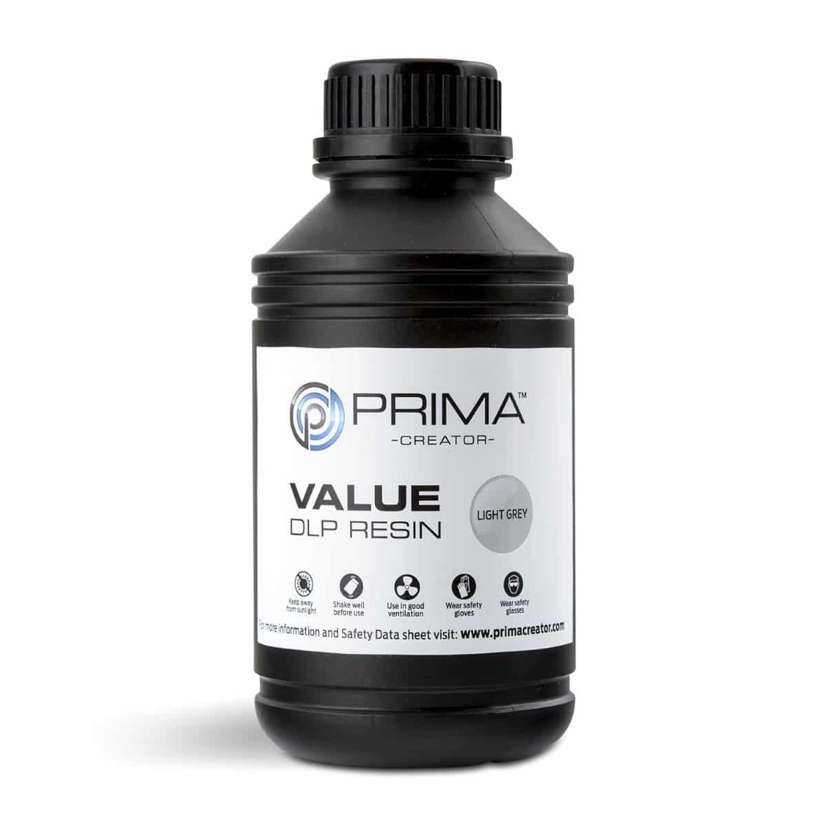 Image of PrimaCreator Value UV / DLP Resin - 500 ml - Light Grey