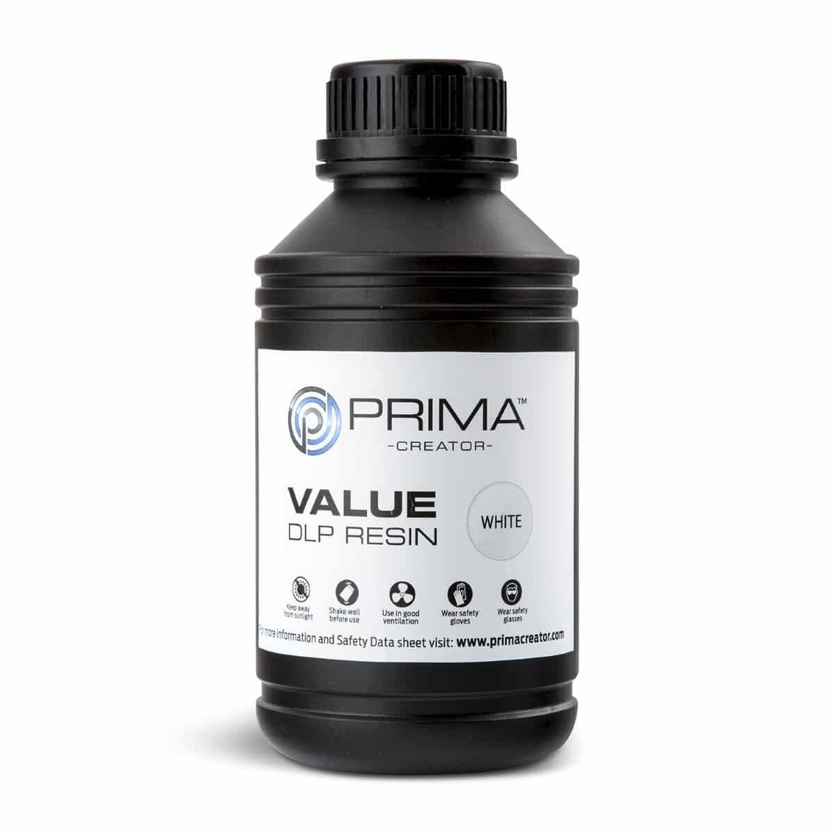 Image of PrimaCreator Value UV / DLP Resin - 500 ml - White