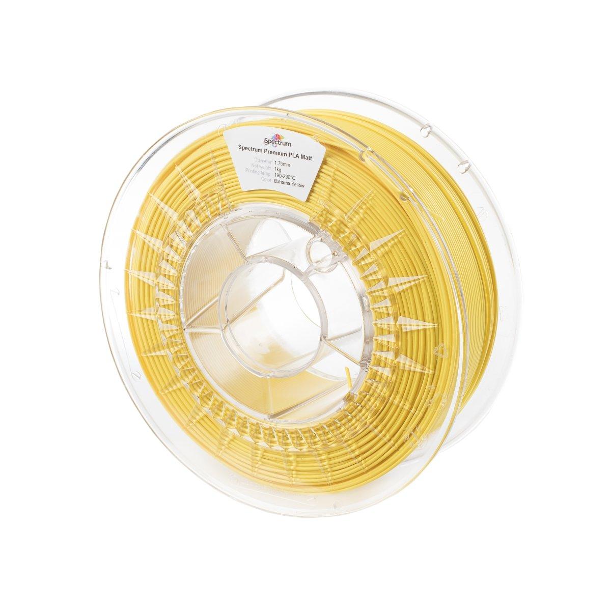 Billede af Spectrum Filaments - PLA Matt - 1.75mm - Bahama Yellow - 1 kg