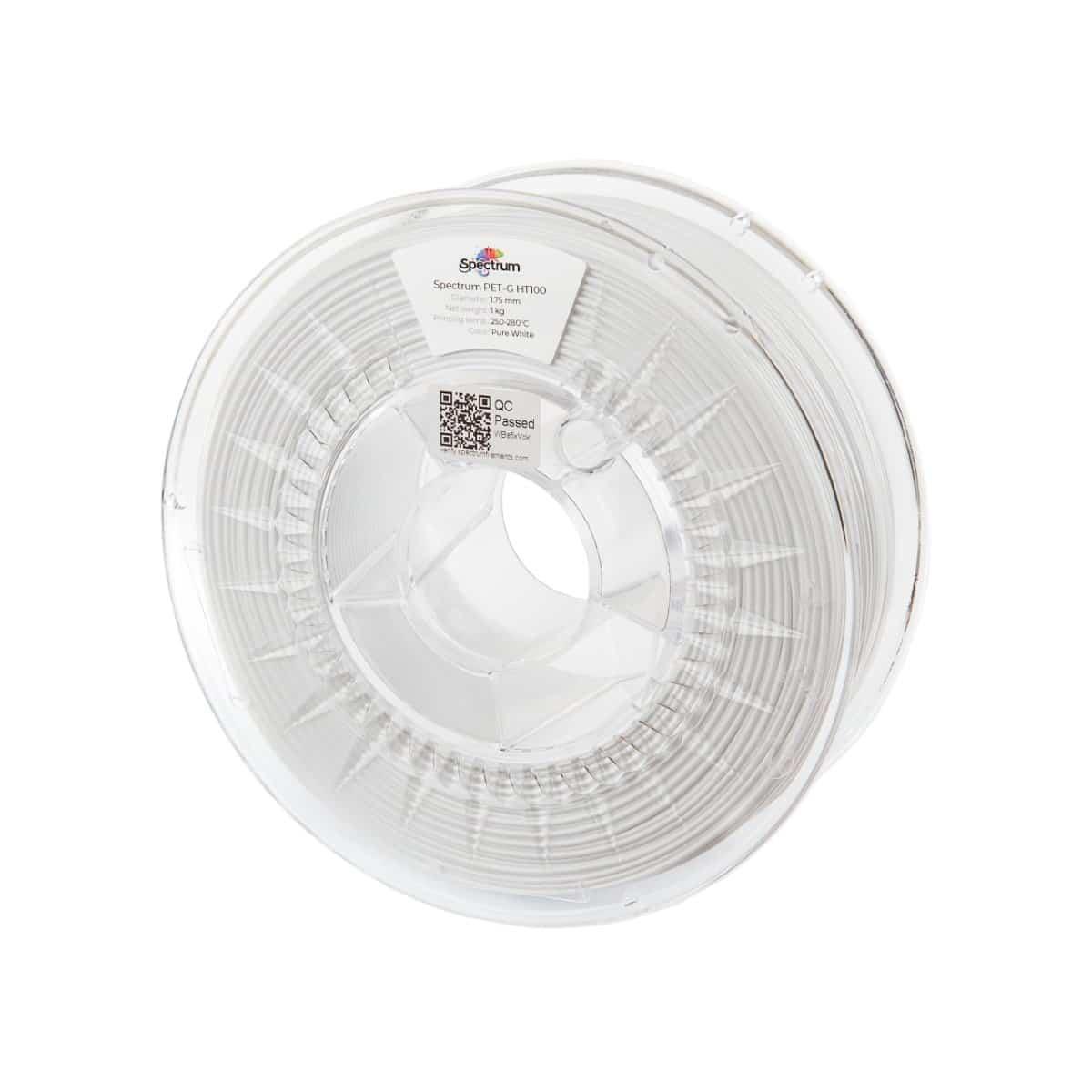 Billede af Spectrum Filaments - PETG HT100 - 1.75mm - Pure White - 1 kg
