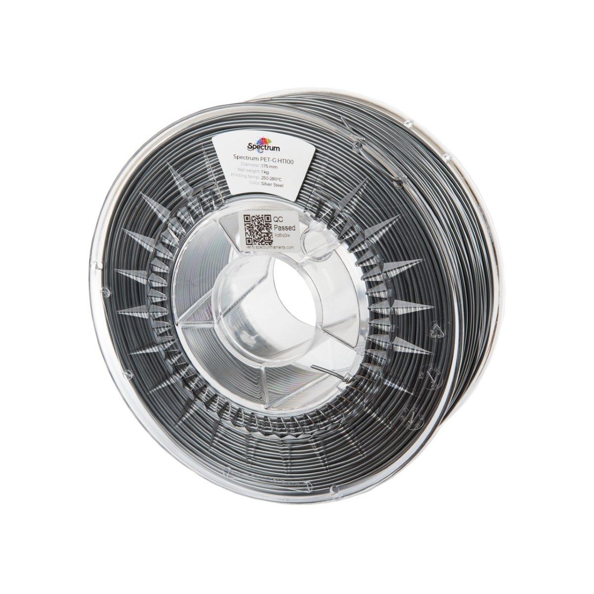 Billede af Spectrum Filaments - PETG HT100 - 1.75mm - Silver Steel - 1 kg