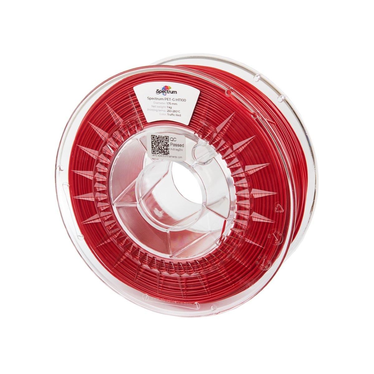 Billede af Spectrum Filaments - PETG HT100 - 1.75mm - Traffic Red - 1 kg