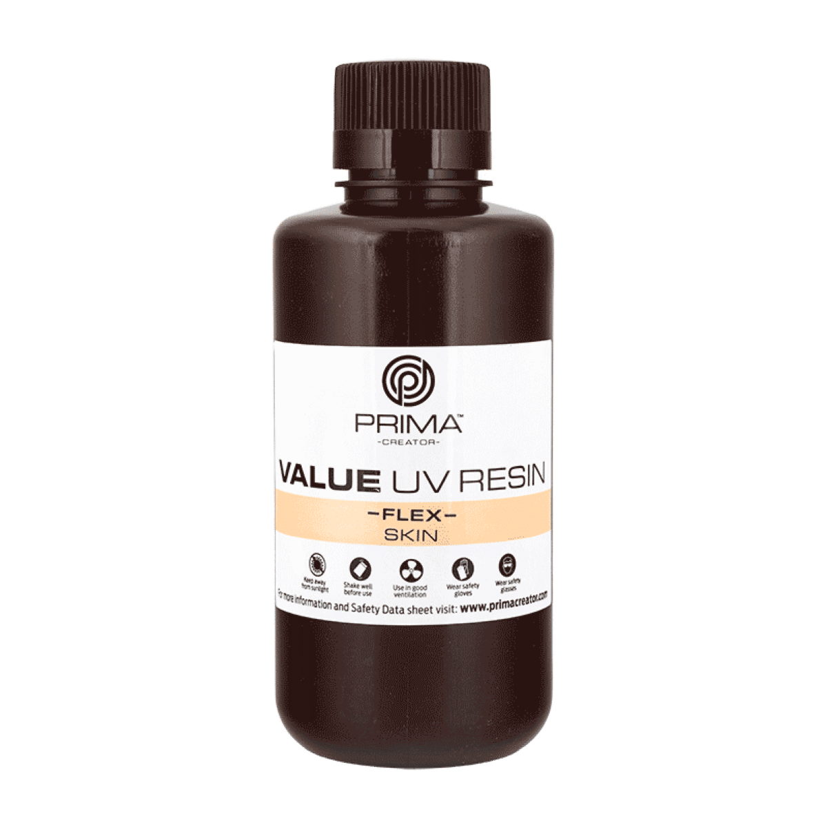 Image of PrimaCreator Value Flex UV Resin - 500 ml - Skin
