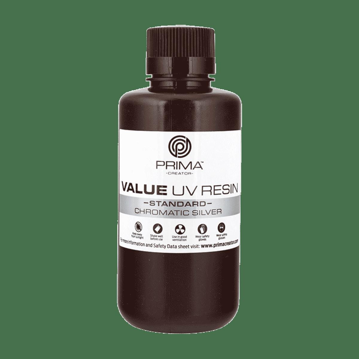 Image of PrimaCreator Value UV / DLP Resin - 500 ml - Chromatic Silver
