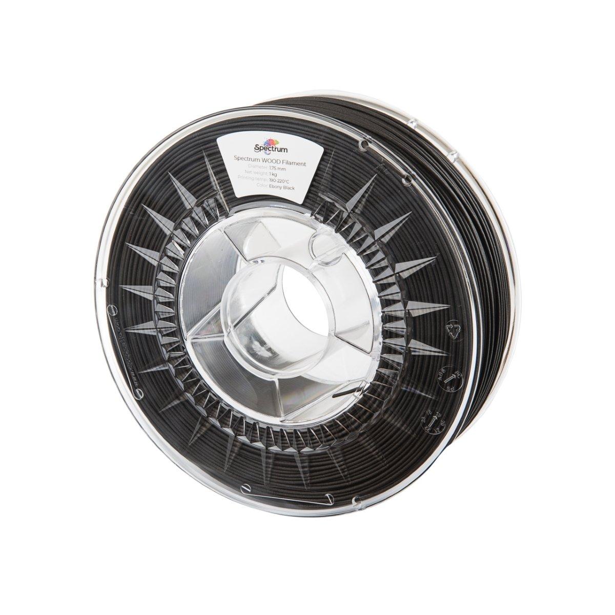 Billede af Spectrum Filaments - WOOD - 1.75mm - Ebony Black - 1 kg